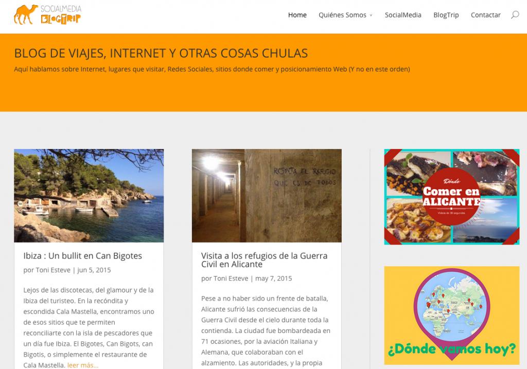 El blog de viajes y turismo Socialmediablogtrip.